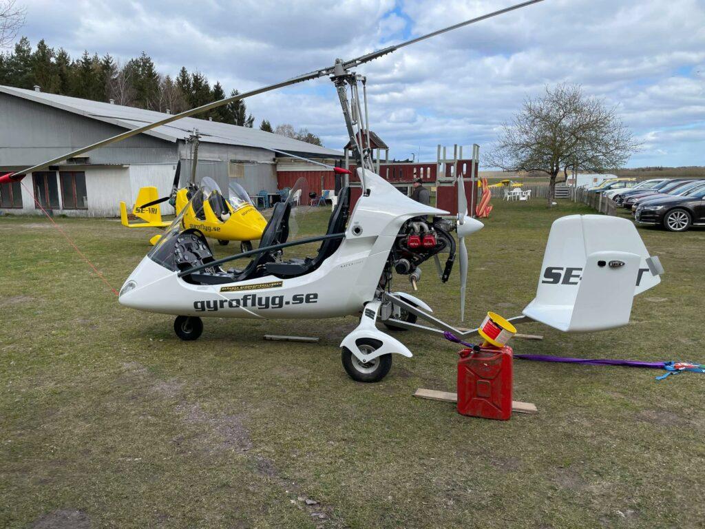 Dragtest Gyrokopter